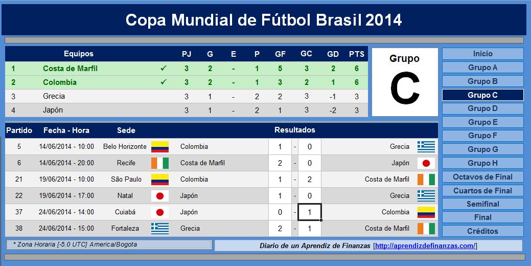Calendario Mundial Futbol.Descarga Calendario Del Mundial Brasil 2014 En Excel A Son De Salsa