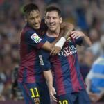 Barça golea con Hat-trick de Neymar y se mantiene 1º en la Liga