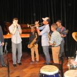 Jam Session en conferencia de prensa del Panamá Jazz Festival