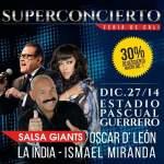 Oscar de León, Ismael Miranda, La india en Concierto, 27 de diciembre