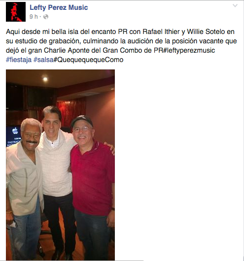 lefty perez con rafael ithier y willie sotelo