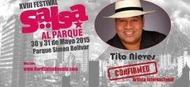 Tito Nieves confirmado para Salsa al Parque en Bogota
