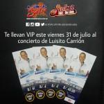 """""""SALSA 106 online"""" te llevan VIP al concierto de Luisito Carrión"""