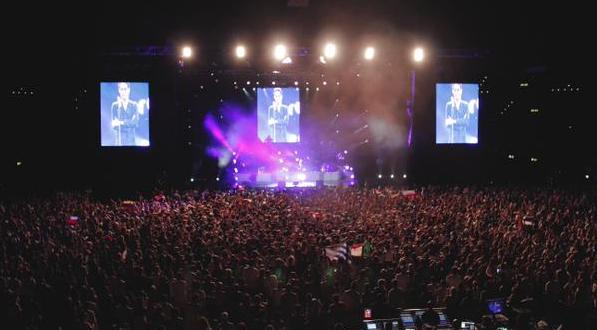 Marc Anthony de Gira en Europa, arrancó en Zurich, Suiza
