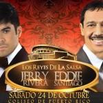 Jerry Rivera y Eddie Santiago en concierto el sábado 24 de octubre