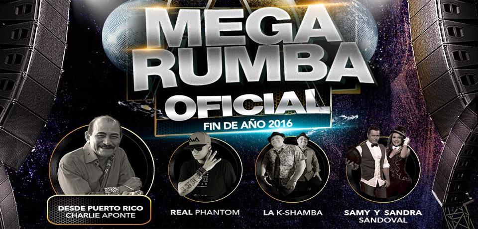 Mega Rumba Oficial de fin de año en Megapolis