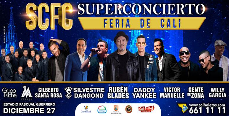 Rubén Blades, Gilberto Santarosa, Grupo Niche, Victor Manuelle en Super Concierto de Cali